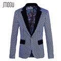 Mogu 2017 novos homens blazer moda um botão centro de ventilação homens Blazer Slim Fit Tamanho Grande M-5XL Blazer em Homens Traje Homme