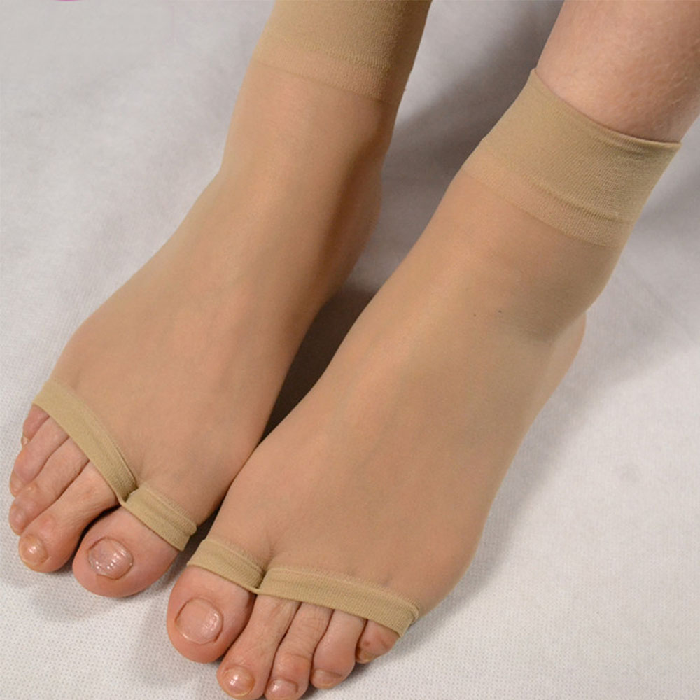 1Pair Women Ultrathin Open Toe Mid-Ankle Invisible Foot Care Socks Fashion Softly Breathable Socks High Quality