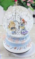 Hot selling Creative Rotary snow glass crystal ball music box send boyfriend and girlfriends creative birthday gifts qy593