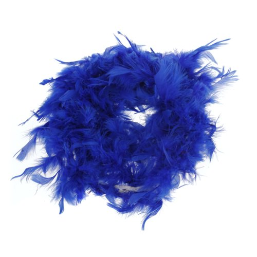 UESH!Boa de Plume Pelucheux Decoration Artisanale 6,6 Pieds de Long - Bleu royal