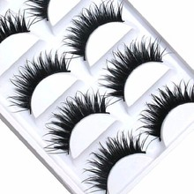 TOMTOSH 5 Pairs Women Lady Natural Thick False Eyelashes Long Handmade Fake Eye Lashes Extension Makeup Tools Free shipping