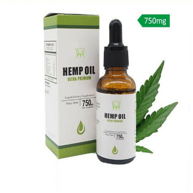 Free Shipping 30ml Essential  Organic Hemp Oil Drops Therapeutic Grade Pain Anxiety Stress Relief Sleep Aid
