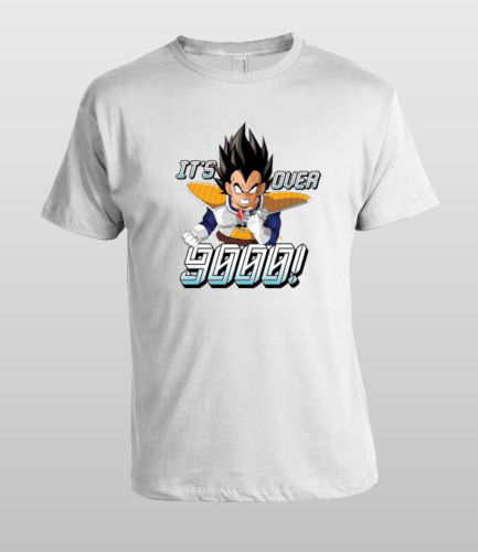 Over 9000 T-shirt Vegeta Tee Dragon Ball Z