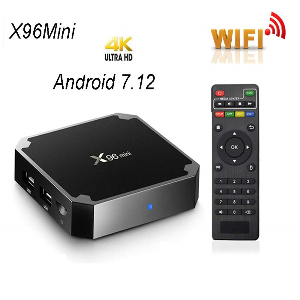 X96 mini tv box WiFi android 7.1 4 K 2 GB 16 GB Amlogic 1 GB 8 GB S905W tvbox Quad core WiFi Media Player smart Set-top X96mini