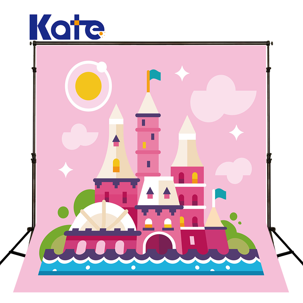 8X8ft Kate Photography Background Castle Newborn Pink Backdrops Cartoon Fairy Tale World Background for Children Photo Shoot kate dry land photography backdrops land photography background retro children custom backdrop props for newborn photo shoot