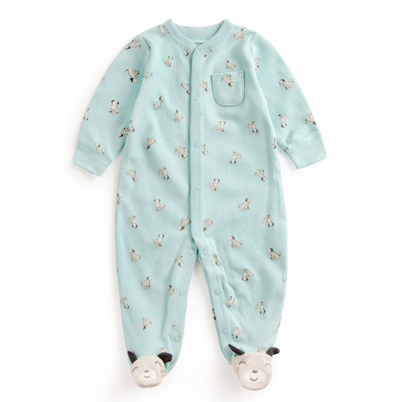 Baby Print dog dot Soft Cotton Rompers Newborn Baby Boy Girl Romper Clothes Jumpsuit Baby Roupa Infantil Menino Kid Set Sliders 2016 bebe rompers ropa pink minnie hoodies newborn long romper baby girl clothing roupa infantil jumpsuit recem nascido