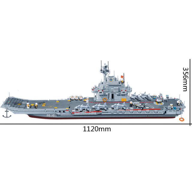 Military Warship Blocks Set