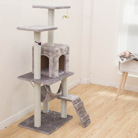 Cat Tree High Stability Cat Climbing Climber With Ladder Cat Furniture Pet Scratching Post With Hammock Cat Toy Ball chat