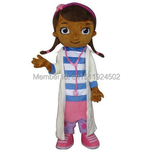 Hot Sale 2014 High Quality Doc McStuffins Mascot Costume McStuffins Adult Mascot Costume Cosplay Costume