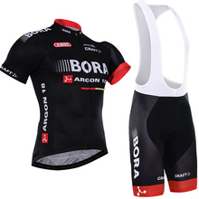 2017 BORA team cycling jersey pro bike shorts set Ropa Ciclismo breathable mens summer cycling wear bicycle Maillot Culotte
