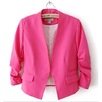 2016-Womdee-Women-Blazer-Suits-Work-Jacket-Cute-Candy-Colors-Puff-Sleeve-Buttonless-Short-Jacket-Coats