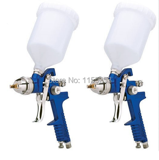 Mini HVLP Air Spray Gun 1.7mm Furniture/Wood Automotive Primer Paint  sandblasting gun