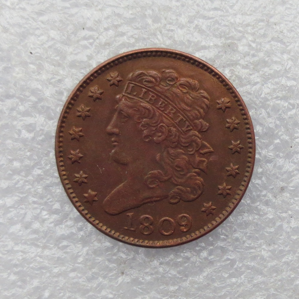 1809 CLASSIC HEAD HALF CENTS Copper Manufacture copy coins do old free shipping
