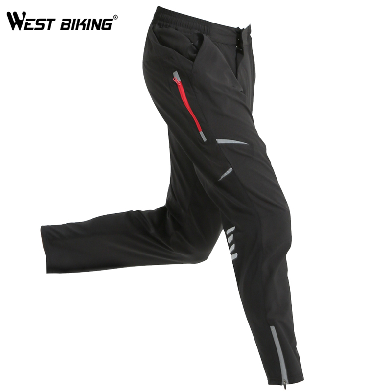 WEST BIKING Spring Breathable Cycling Pants Men Windproof Running Sportswear Reflective Outdoor Sports Gym Bicycle Hiking Pants nuckily men s winter bicycle pants waterproof and windproof outdoor breathable polyester durable fabric cycling sports tights