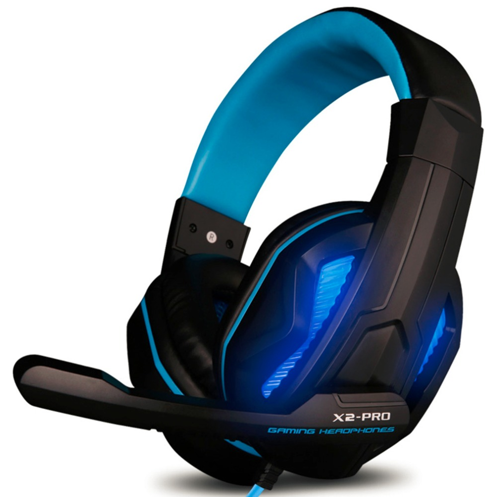 Ovann X2-PRO LED Light Gaming Headphones with Mic Stereo Earphone Over-ear Headset Noice Cancel for IOS for Android