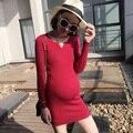 2017 новый материнства свитера корейский длинный рукав платья одежда для беременных беременность одежда платья
