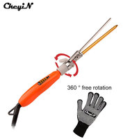 360 Rotatable 9MM Deep Curly Hair Styler Curls Ceramic Curling Iron Wave Machine Pro Spiral Hair