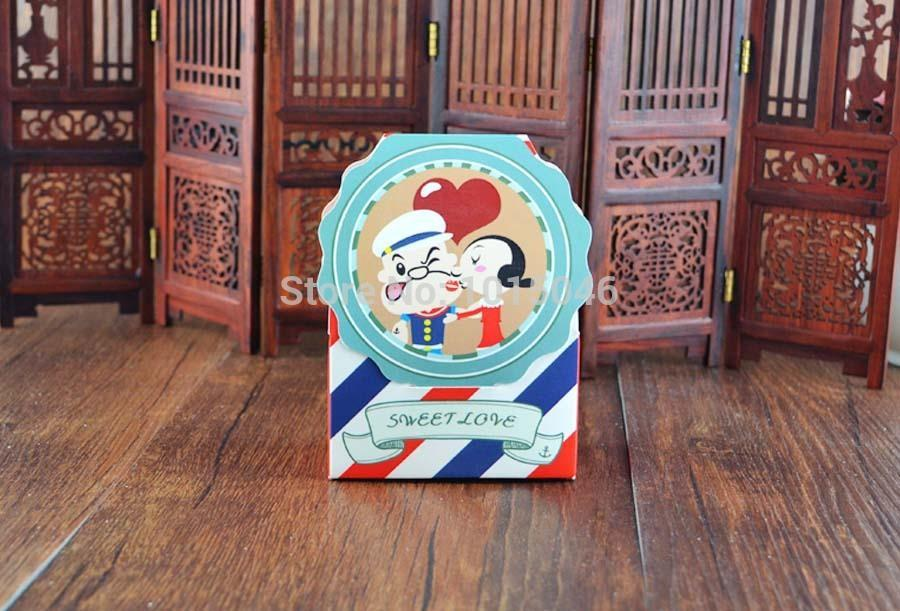 Free Shipping 20 X Cartoon Popeye Candy Box Children Birthday Baby Shower Favor Candy Box Wedding Gift Bag Decoration