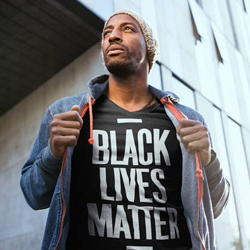 HTB17hh.OAvoK1RjSZFNq6AxMVXaK - Showtly Black Lives Matter Men's T Shirt BLM Tee Tops Activist Movement Clothing Casual Cotton Short Sleeve