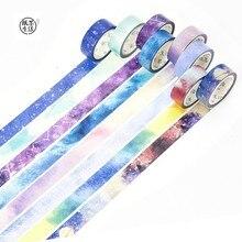 1.5cm*7m Starry star washi tape set Rainbow sky masking tapes 15mm*7m decoration tape scrapbooking diary sticker Stationery