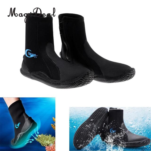 10bccb50a MagiDeal Professional 5mm Neoprene Wetsuit Shoes Beach Antiskid Scuba  Diving Boots Snorkeling Jetski Kayak Fishing Swim