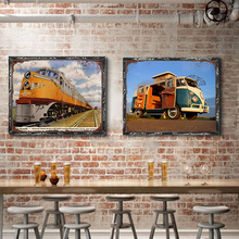 Train Vintage Metal Plate Tin Signs Wall Poster Decals Painting Bar Club Pub Home Decor 30*20cm 1001(1129)