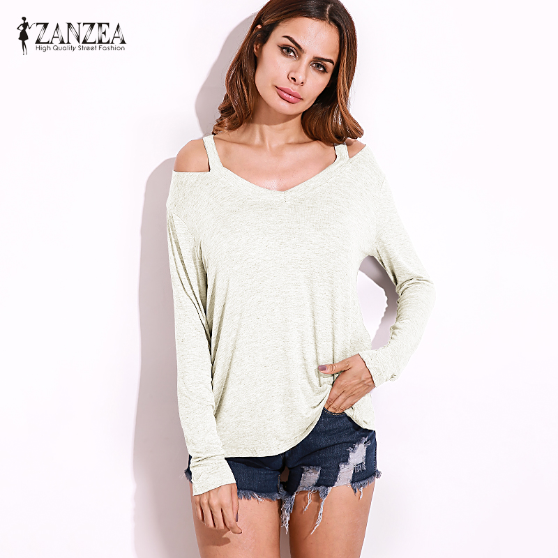 a5a5704a0 ⊰ZANZEA Sexy Tops 2018 Autumn Womens Long Sleeve Holllow Out Shirts ...