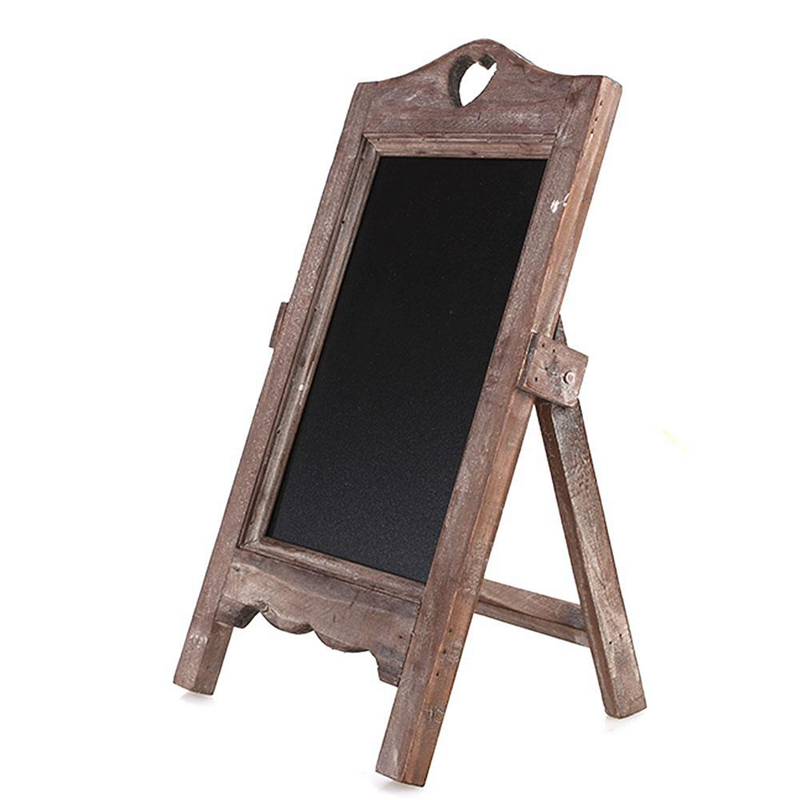 Wood Easel Chalkboard Scaffolding Message Board Wooden Small Blackboard Restaurant Cafe Desktop Creative Multifunctional Retro N