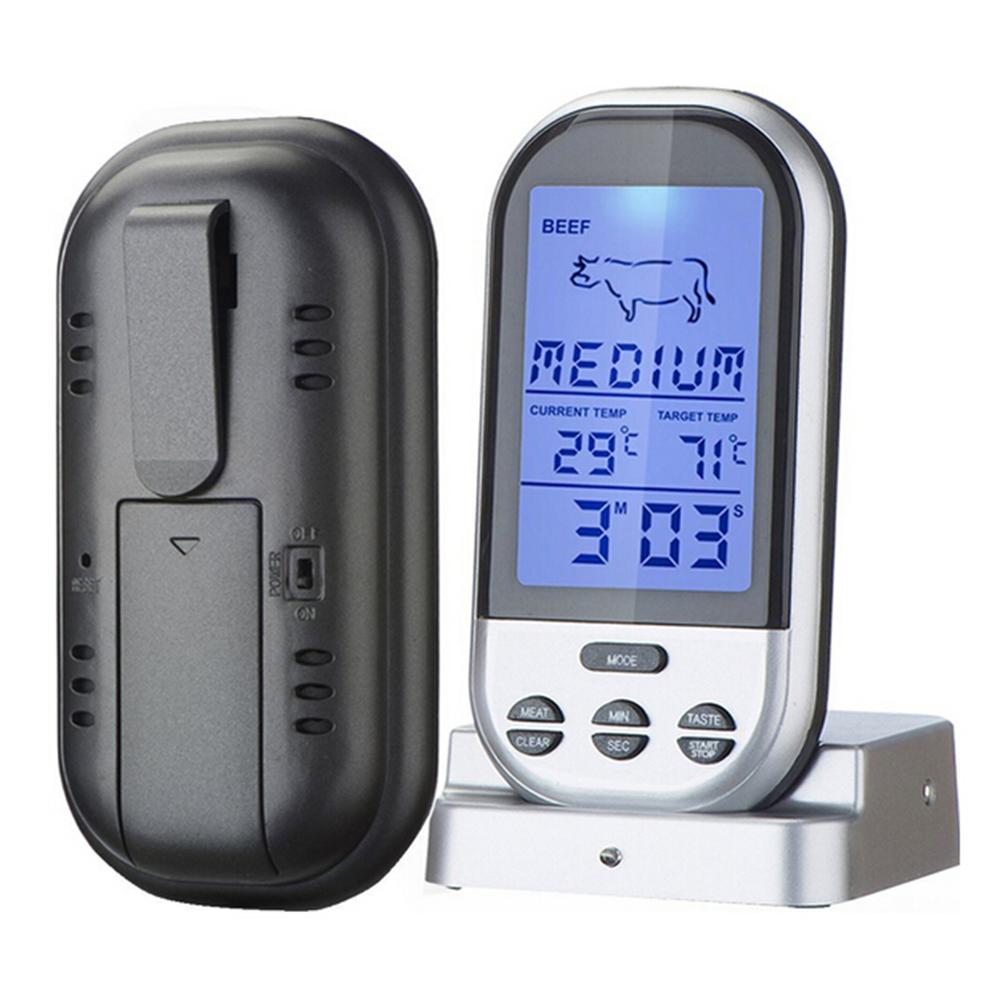 Digital Wireless Probe Oven Thermometer Timer Alarm Meat BBQ Grilling Food Kitchen Thermometer Cooking Kitchen Tools