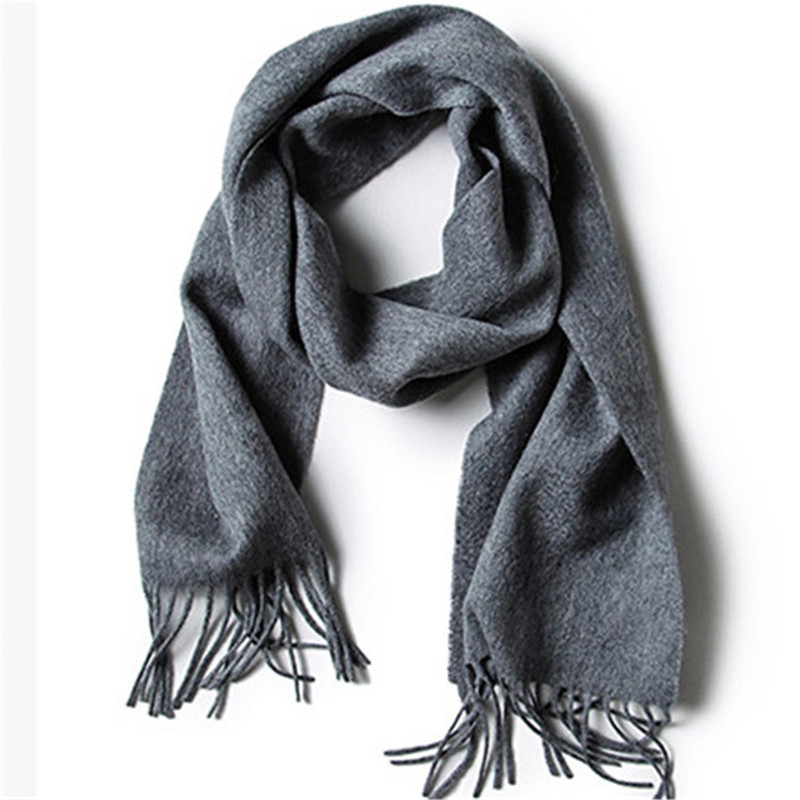 100% goat cashmere kids fashion water ripple solid scarfs long tassel pink 4color 20x140cm