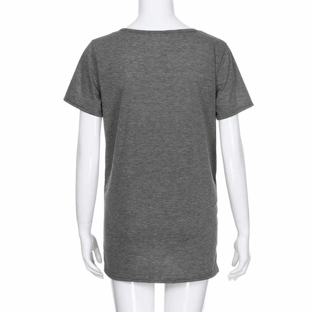 2018 Одежда для беременных, футболки для женщин с принтом, Повседневная Блузка для беременных, футболки для беременных, летняя одежда для беременных