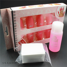 Plastic Nail Art Soak Off Cap Clip Gel Soak Off Remover Nail Polish Remover Set With Remover Cotton UV Gel Cleaner Set