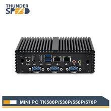 Новый intel nuc i3 i5 i7 mini pc windows 10 случай сплава 4 * com 2 * nic 2 * hdmi 4 * usb мини-компьютер linux