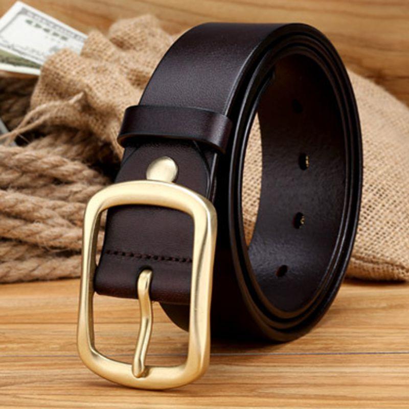 2019 módní káva designérské pásy celozrnný kožený opasek - Příslušenství pro oděvy