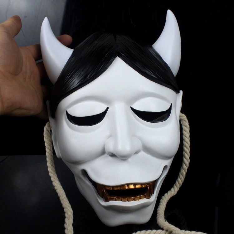 Byakki blanc papillon Fantôme Académie véritable Prajna masque spot CR avant Halloween Horreur animation masque homme