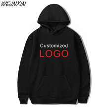 WEJNXIN 2018 New Sale Personal Customized Logo Printing Hooded Sweatshirt Pullover Hoodies High Quality Plus Size Clothing