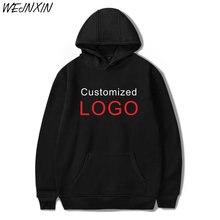 WEJNXIN 2018 nueva oferta personalizado Logo impresión Sudadera con capucha Jersey sudaderas con capucha alta calidad Ropa de talla grande