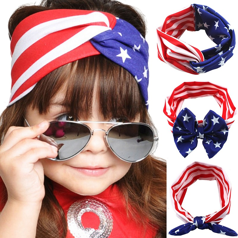 4th of July American Flag Pattern Headband