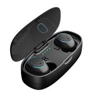 HTK18 Mini Invisible Headphones 3D Stereo handsfree noise canceling Bluetooth Headset Wireless Bluetooth Earphones & Power box