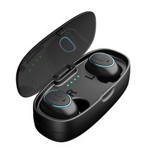 HTK18 TWS Invisible Mini Headphones 3D Stereo Hands-free Noise Reduction Bluetooth Headset Wireless Earphones and Power Bank box