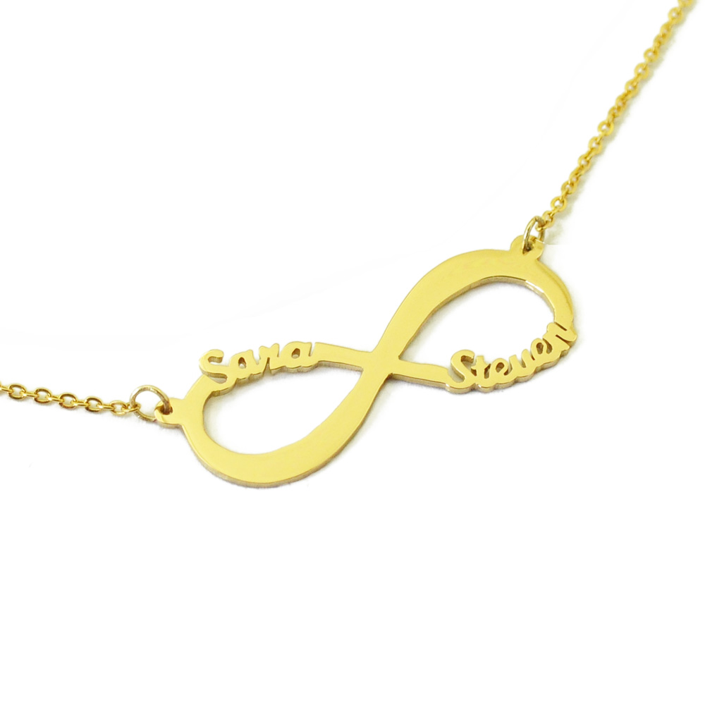 5232ddea88673 US $7.99 |Infinity Necklace Personalized Infinity Pendant Custom Two Names  Necklace Anniversary Gift for Her Girlfriend Gift Wife Gift-in Pendant ...