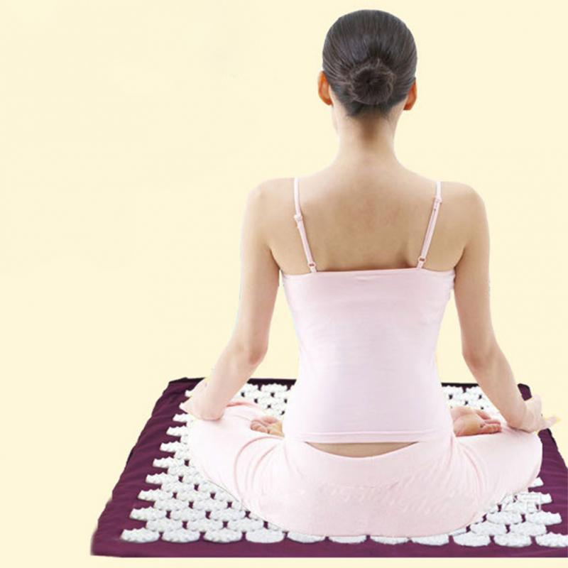 New Back Body Massage Relieve Stress Tension Pain Exercise Fitness Lose Weight Non-slip Yoga Mat Pad 67x42cm