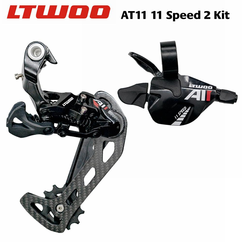 LTWOO AT11 1x11 Speed Trigger Shifter + Carbon Fibre Rear Derailleurs  11s for MTB Compatible with 52T Cassette  M7000 M8000|Bicycle Derailleur| |  - title=