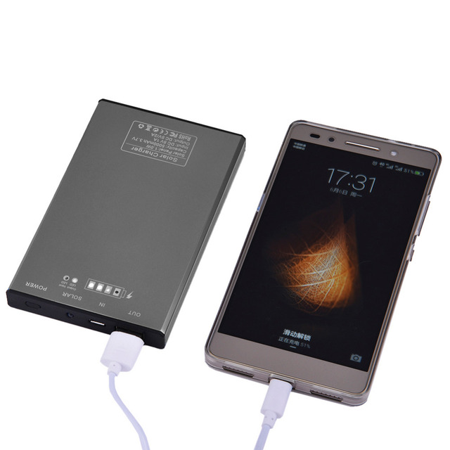 Banco de la energía banco de la energía solar para iphone cargador de batería solar 4000 mah powerbank para iphone samsung android smart phone