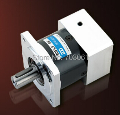 Réducteur de moteur électrique 80mm réducteurs planétaires rapport 10:1 sortie bride carrée planétaire 80mm taille boîte de vitesses assortie