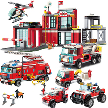 Firefighting Series Building Blocks Sets DIY City Truck Car Bricks Children Educational Blocks Boys Gifts Toy 2020pcs alien building blocks diy bricks toy
