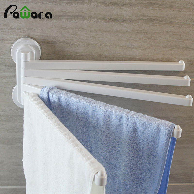 5 Bar Plastic Swing Out Towel Bar Holder With Hook Wall