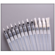 Nylon Hair Refillable Water Brushes 6 Pcs Art Supplies Pilot Brush Drawing Painting Ink Pens 1 Set Office Stationery
