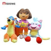 3pcs Set 25cm Genuine Love Adventure Of Dora Monkey Boots Swiper Dolls Plush Animals Children S