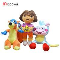 3 pcs/ensemble 25 cm Véritable amour aventure de Dora, singe Bottes, chipeur poupées En Peluche Animaux Enfants de cadeau du Jour